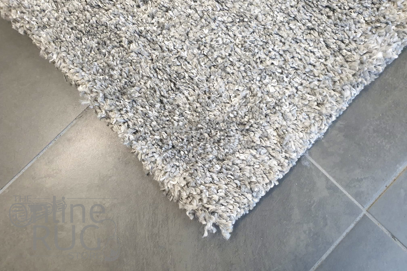Thibet Light Grey Plush Rug