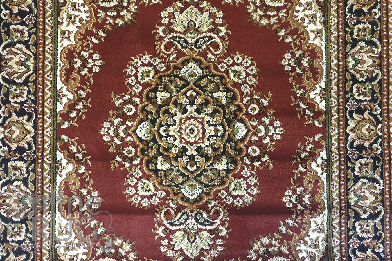 Simcha Red Medallion Traditional Rug