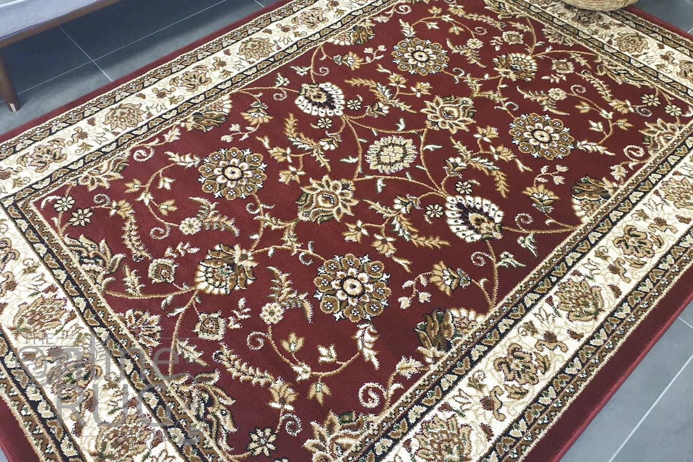 Simcha Red Cream Oriental Traditional Rug