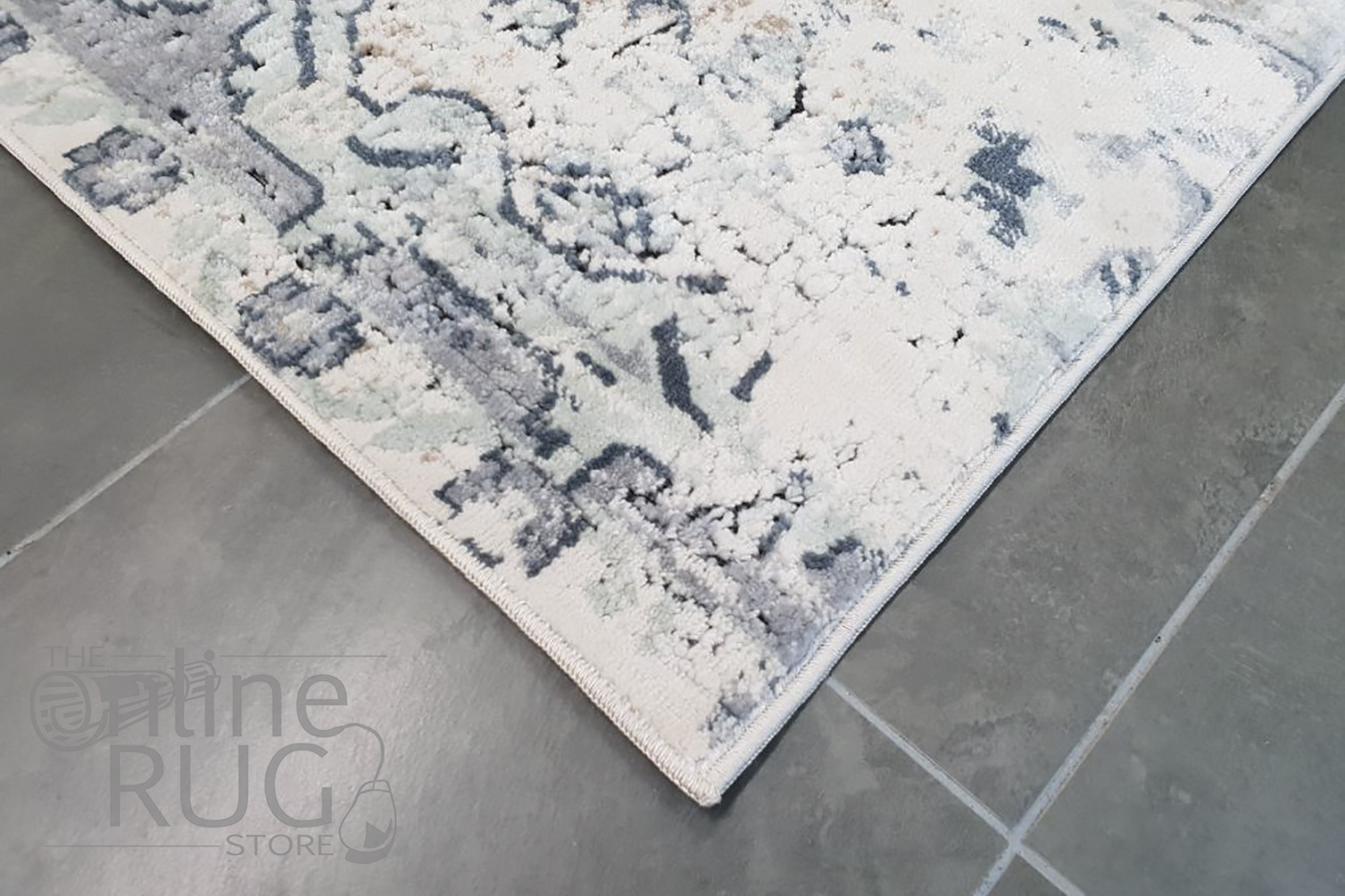 Grace Blue Faded Wash Transitional Rug