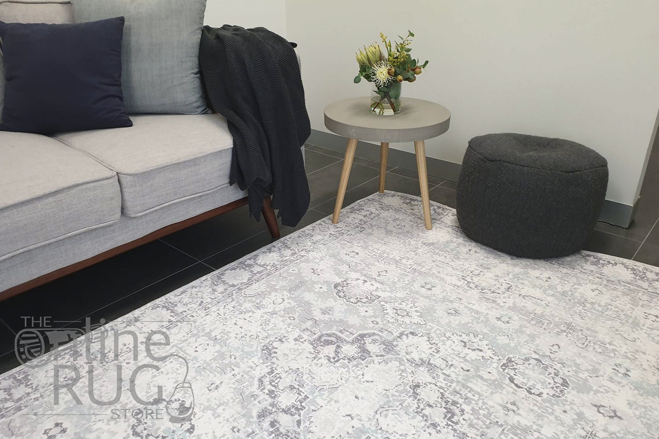 Ariel Light Grey Timeless Transitional Rug