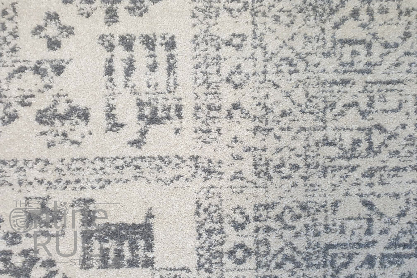 Cameron Silver Aztec Tribal Pattern Rug