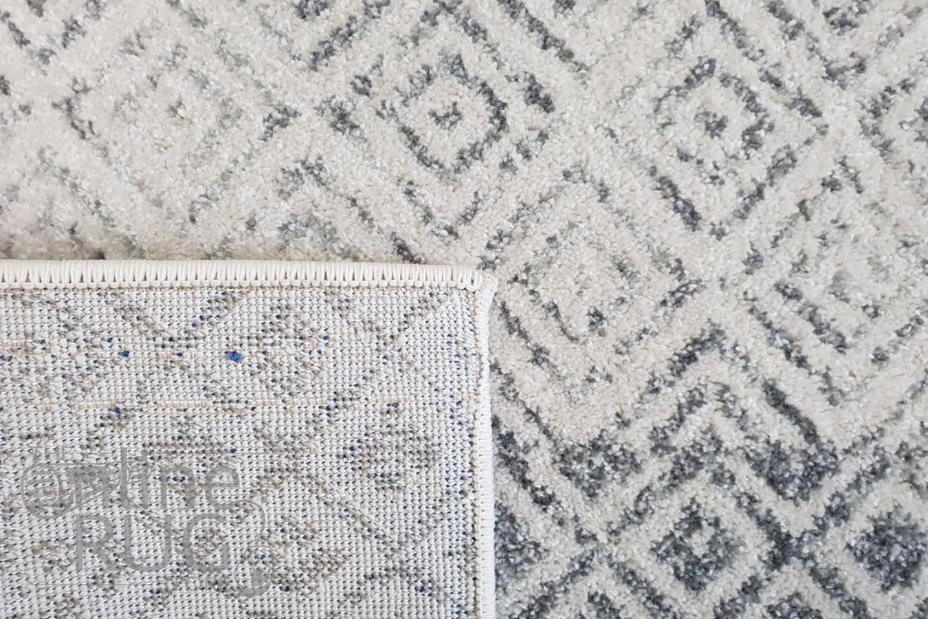 Awaken Grey Diamond Patterned Rug
